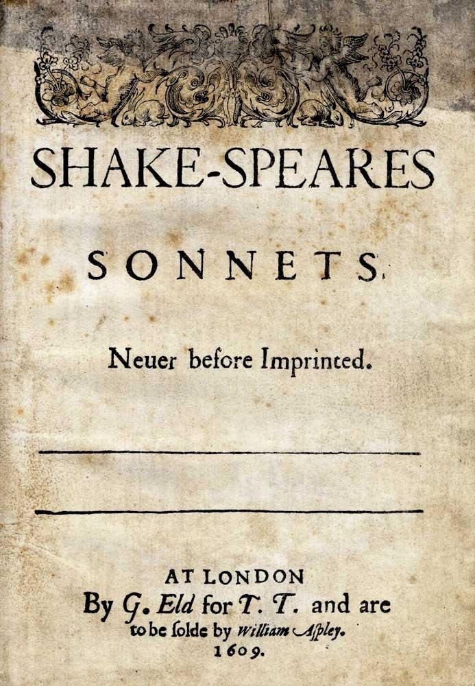 Прижизненное издание «Сонетов» Шекспира, где его фамилия написана через дефис и напоминает псевдоним