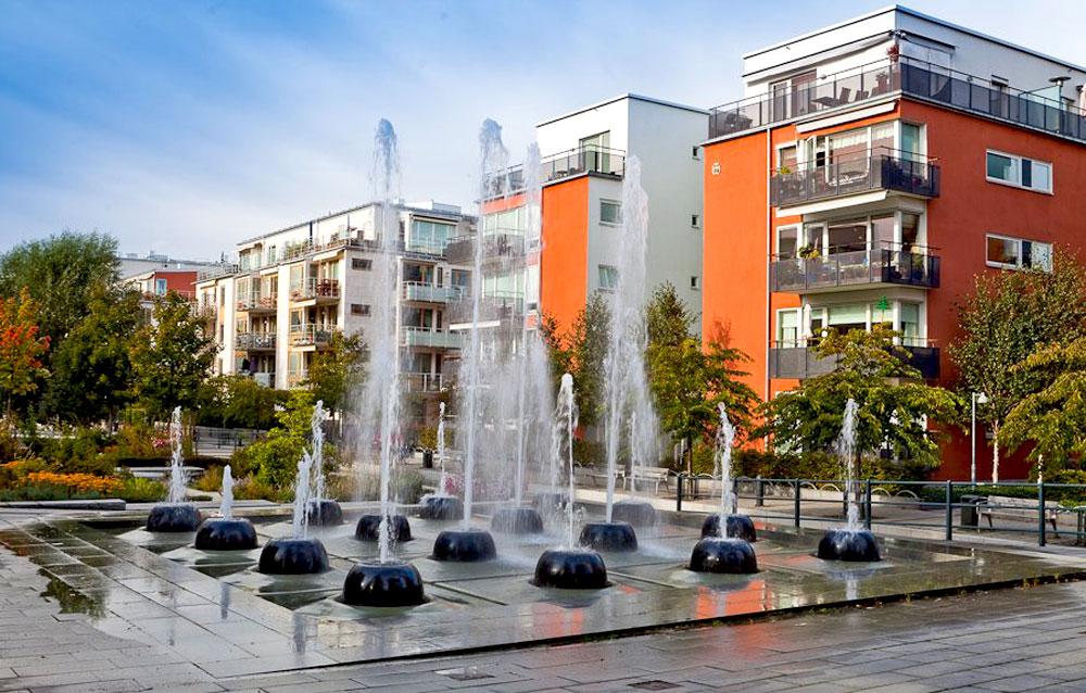 Хаммарбю Шёстад — шведский «город у озера»