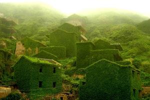 Заброшенная деревня в Китае, остров Шенгси